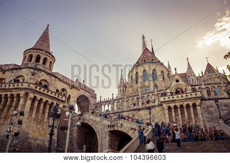 People visit the Fisherman's Bastion
