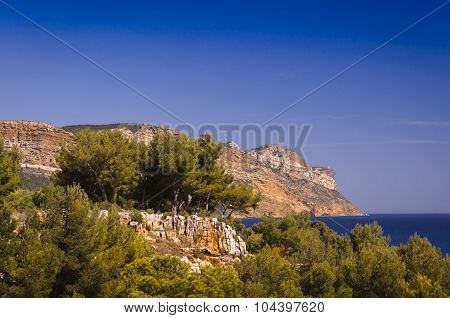 Cap Canaille Seen From Cassis, France