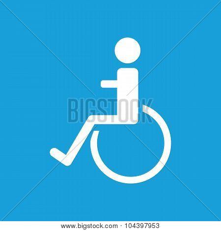 Disabled icon, white
