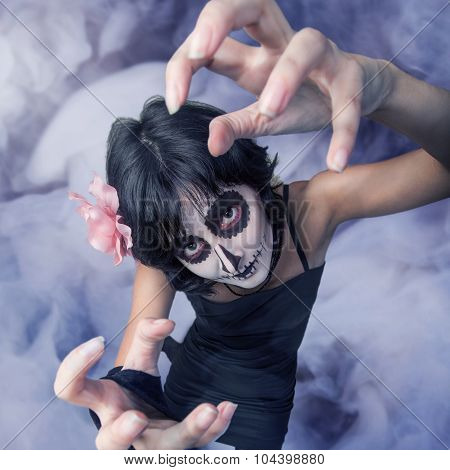 Woman With Make-up Zombies