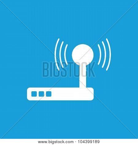 Wi-Fi router icon, white