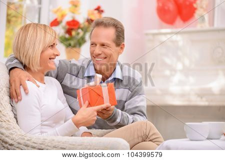 Agreeable couple celebrating St Valentine day