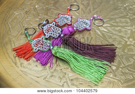 The Keyring As Fatima Hand As Souvenir From Morocco