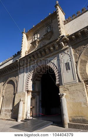 Door Of The Mosque-cathedral Of Cordoba, Andalucia,  Spain