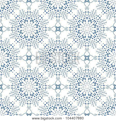 Seamless mandala pattern in moroccan arabic style