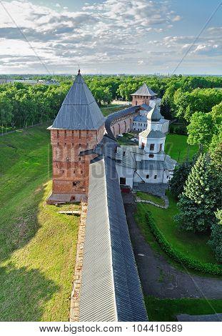 Panorama Of Novgorod Kremlin From A Height, Veliky Novgorod