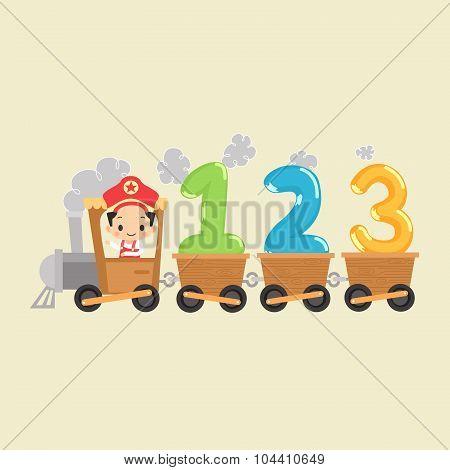 Kid Train with 123