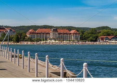 Sofitel Grand Sopot Hotel and beach