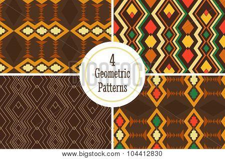 Four geometric seamless pattern