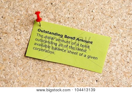 Outstanding Bond Amount