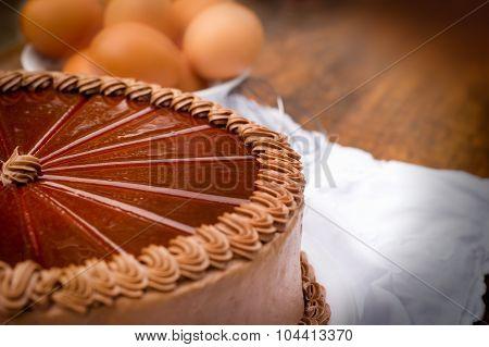 Chocolate cake - close up