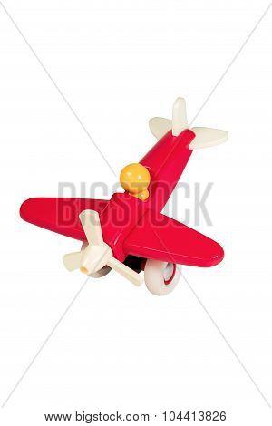 Children Wooden Red Plane
