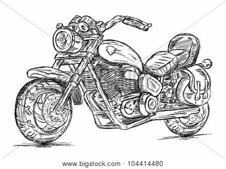 Detailed Motor Cycle / Bike Vector Illustration