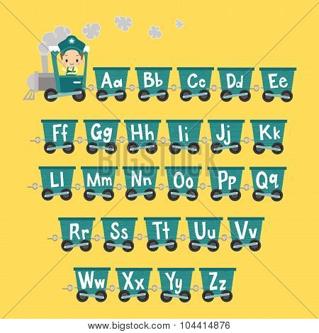 Kid Train with Alphabet