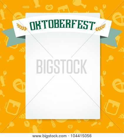 Oktoberfest celebration vector background poster