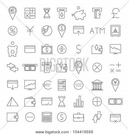 Finance Icons, Vector Illustration.
