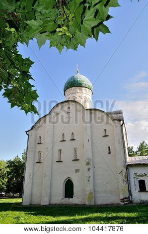 Church Of St.theodore Stratilates On The Brook In Veliky Novgorod, Russia