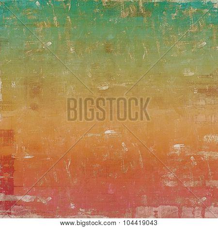 Grunge retro vintage textured background. With different color patterns: brown; green; red (orange); pink