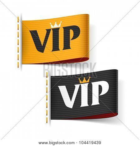 VIP labels vector illustration