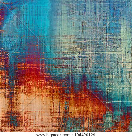 Grunge texture. With different color patterns: yellow (beige); blue; red (orange); cyan