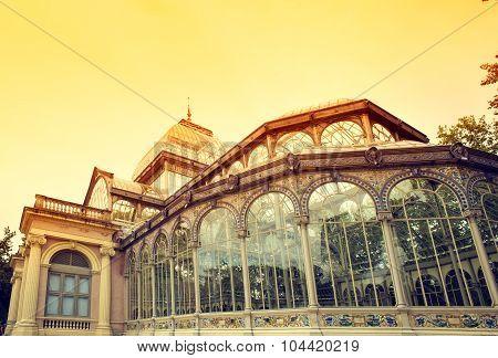 Crystal Palace In Retiro Park, Madrid