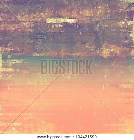 Old abstract texture with grunge stains. With different color patterns: brown; purple (violet); pink; cyan
