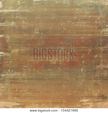 Weathered and distressed grunge background with different color patterns: yellow (beige); brown; gray