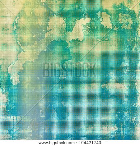 Abstract distressed grunge background. With different color patterns: yellow (beige); blue; green; cyan