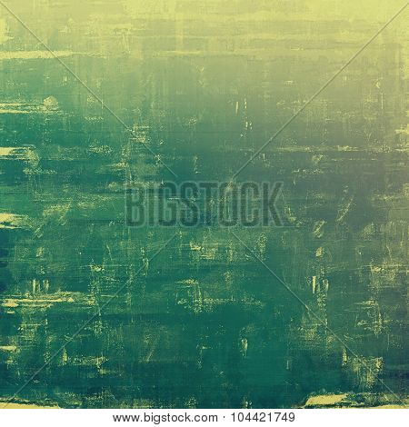 Old ancient texture, may be used as abstract grunge background. With different color patterns: yellow (beige); green; gray