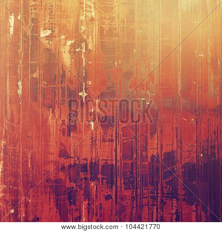 Weathered and distressed grunge background with different color patterns: yellow (beige); brown; red (orange); purple (violet)