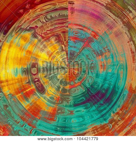 Old abstract texture with grunge stains. With different color patterns: yellow (beige); brown; blue; red (orange); pink