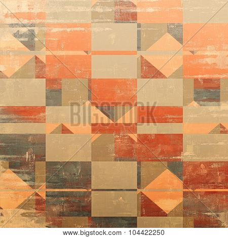 Grunge texture, Vintage background. With different color patterns: yellow (beige); brown; red (orange); gray