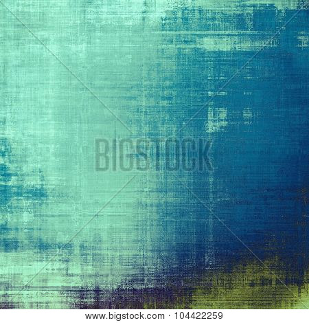 Abstract grunge background or old texture. With different color patterns: blue; green; gray; cyan