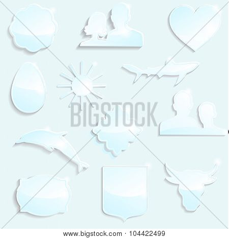 Set Of Different Glasses Icon-stock Vector
