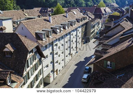 Aerial View Of The Townhouses Of Bern