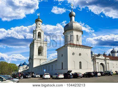 Yuriev  Monastery In Veliky Novgorod, Russia