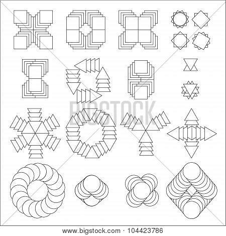 Vector Abstract Geometric Shape Symbol-vector Stock