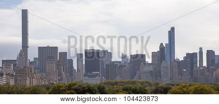 New York Skyline and Central Park.