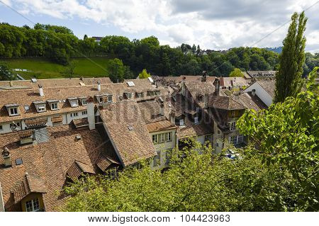 Roofs Of The Townhouses Of Bern