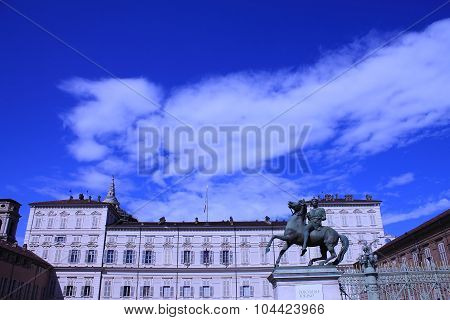TURIN, IT - AUGUST 19, 2015: Turin Royal Palace on the Square of the Castel