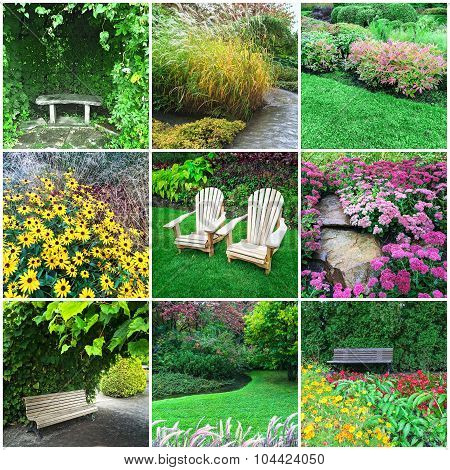 Gardens And Flowers Collage