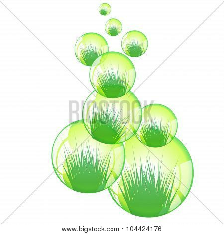Spring Background. Grass. Stock Vector