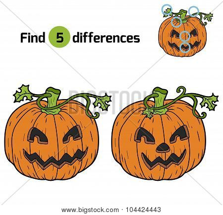 Find Differences: Halloween Pumpkin