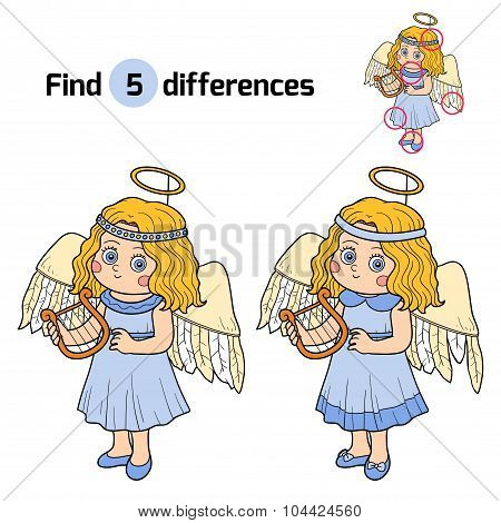 Find Differences: Halloween Characters (angel Costume)