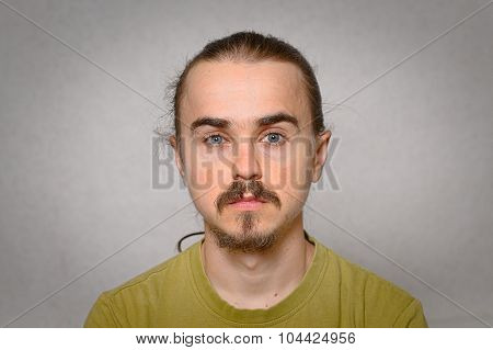 Young Hairy Man Portrait