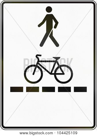 Pedestrian Walkway And Bicycle Path In Canada