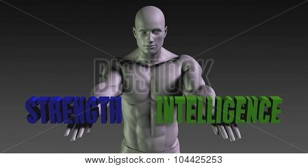 Strength vs Intelligence Concept of Choosing Between the Two Choices