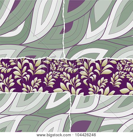 Ripped Paper. Seamless Background. Vector Illustration