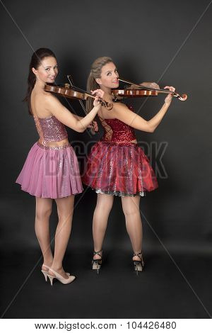 Portrait Of A Violin Duet