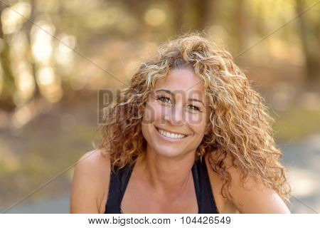 Smiling Charismatic Young Woman